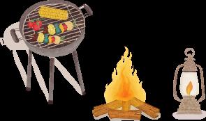 キャンプ道具のイラスト